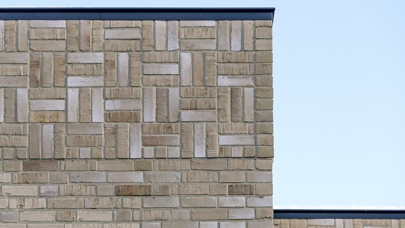 Klinkerfassade der Villa Reimars von Meding im niederländischen Schiedam im Detail.