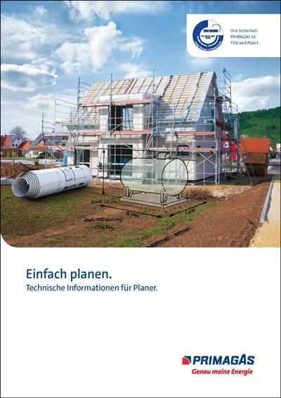 """Titelbild der PRIMAGAS Broschüre """"Einfach planen."""""""