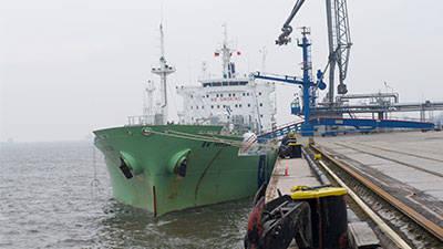 Flüssiggas-Transport durch den Tiefkalttanker BW Havlur.