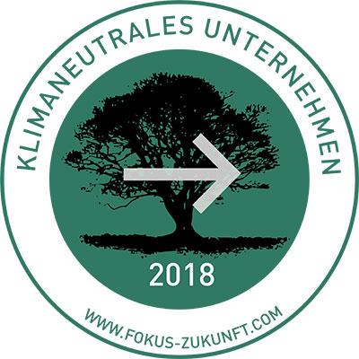 """Siegel """"Klimaneutrales Unternehmen 2018"""" für PRIMAGAS von www.fokus-zukunft.com."""