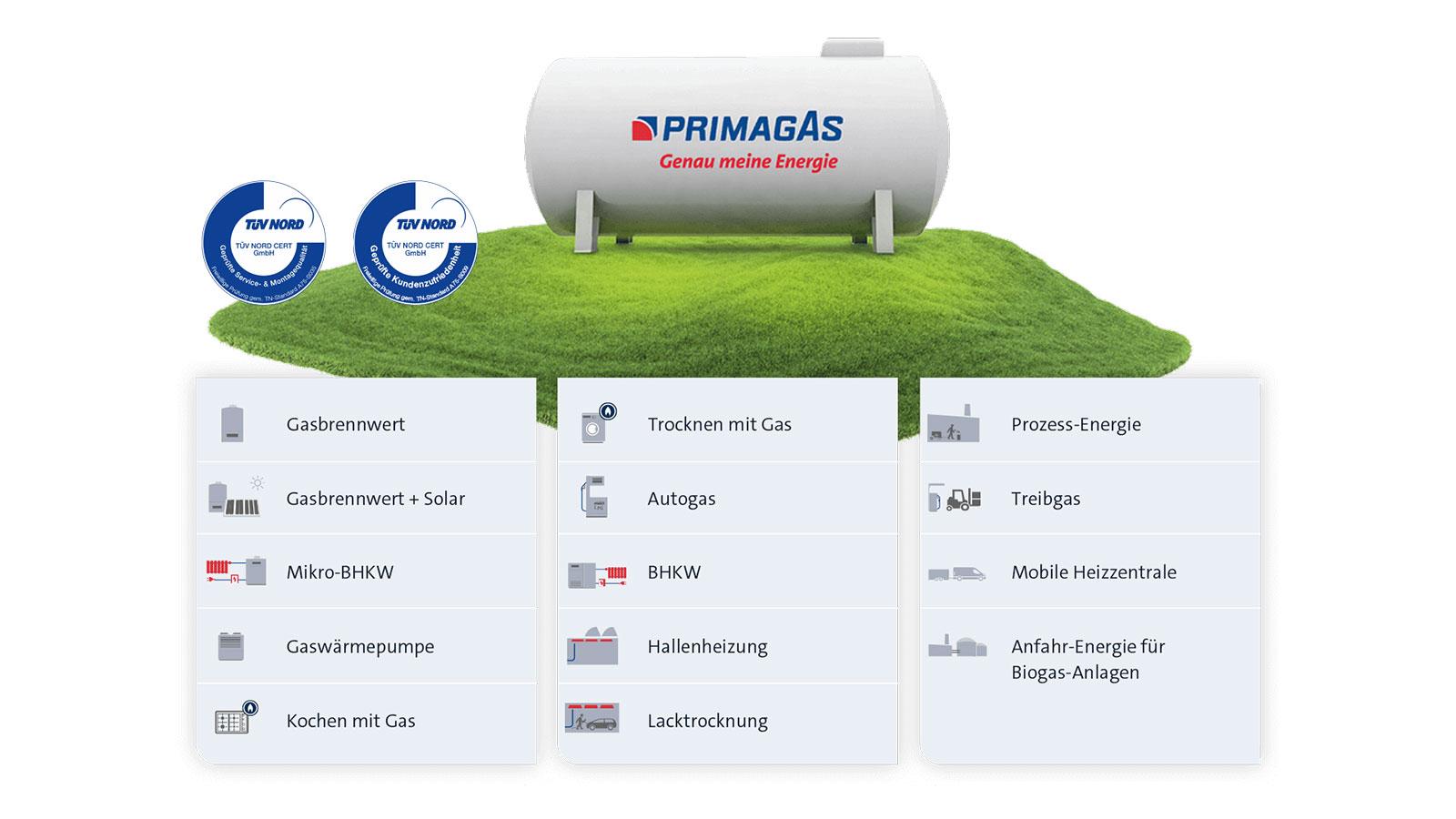 Anwendungen von Bio-Flüssiggas von Gasbrennwert bis Biogas-Anlagen.