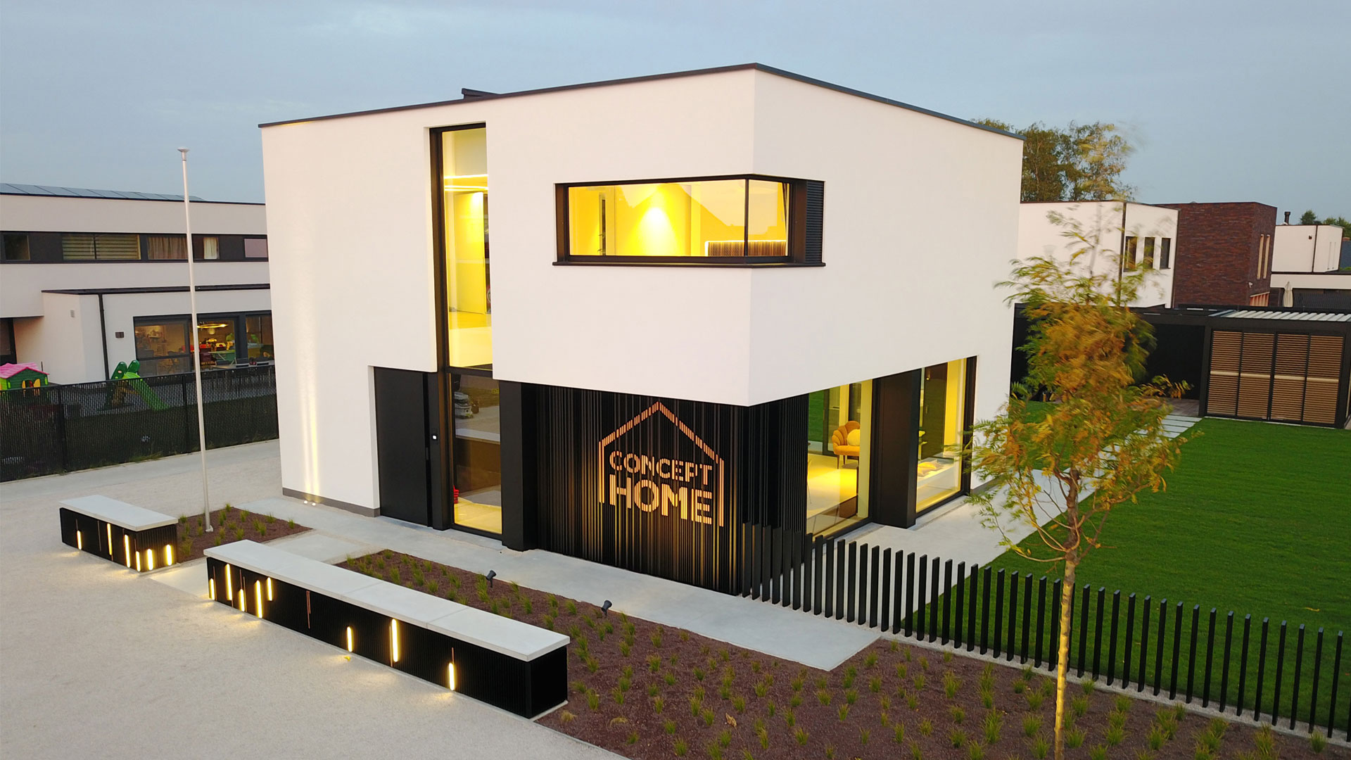 Das Concept Home des Unternehmens Renson, ein Testgebäude für gesundes Wohnen in Belgien (Nähe Waregem).