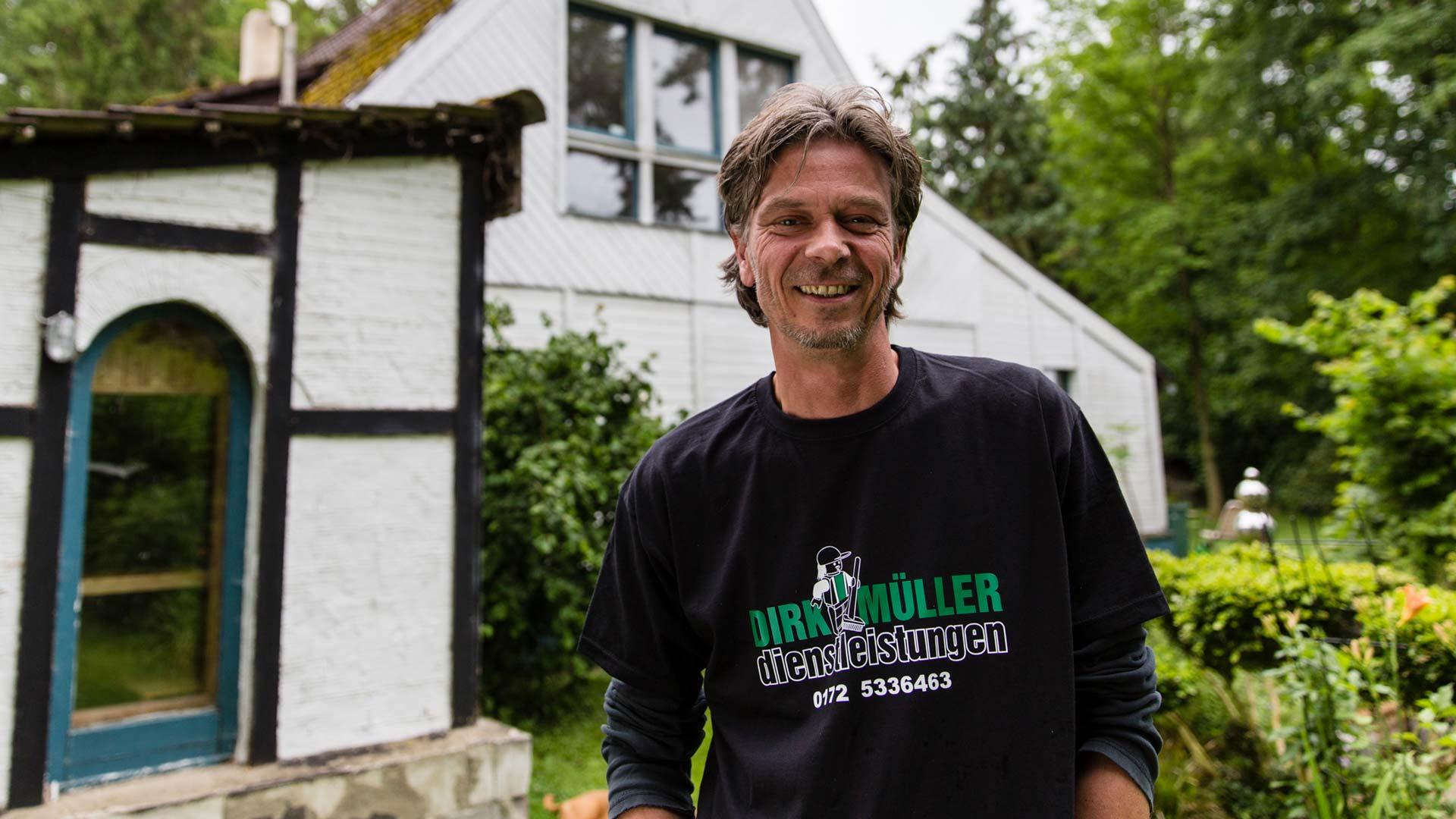 PRIMAGAS Kunde Dirk Müller, der von der Förderung seiner Heizung profitiert hat.