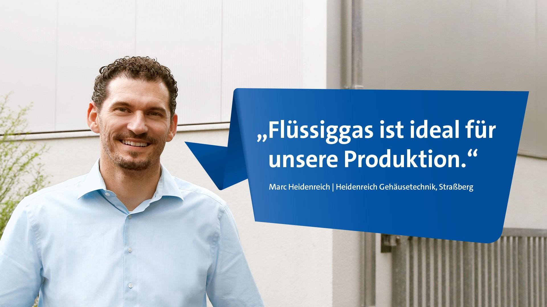 Marc Heidenreich aus Straßberg vor seinem Betrieb Heidenreich Gehäusetechnik.
